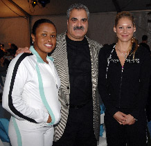 Peter Cuocolo is the President of the Charlotte Special Events Group (seen here with Anna Kournikova)